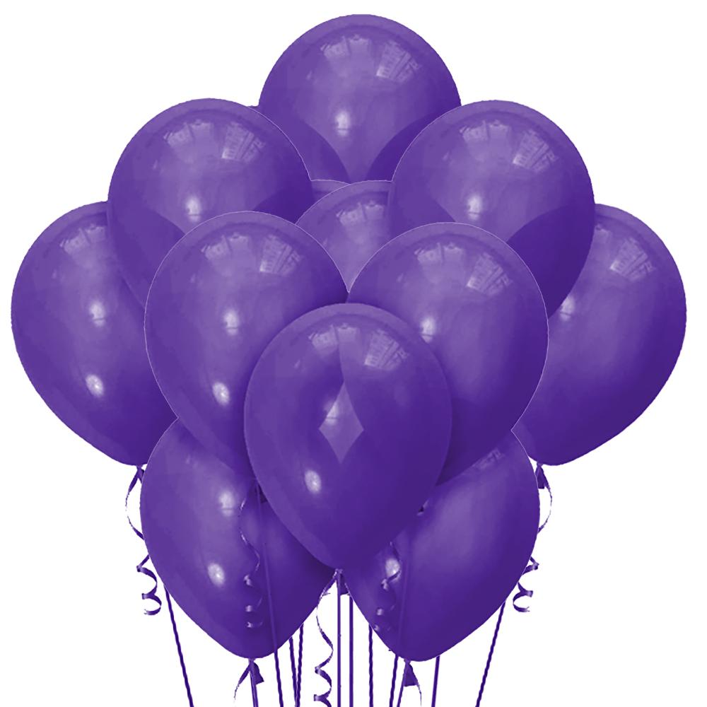 Облако из 15 шаров Матовый Purple 30 см (148)