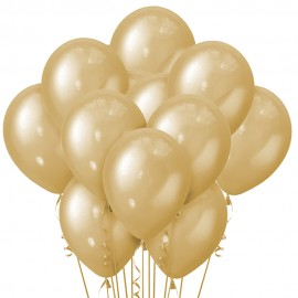 Облако из 15 шаров Металлик Gold 30 см (110)
