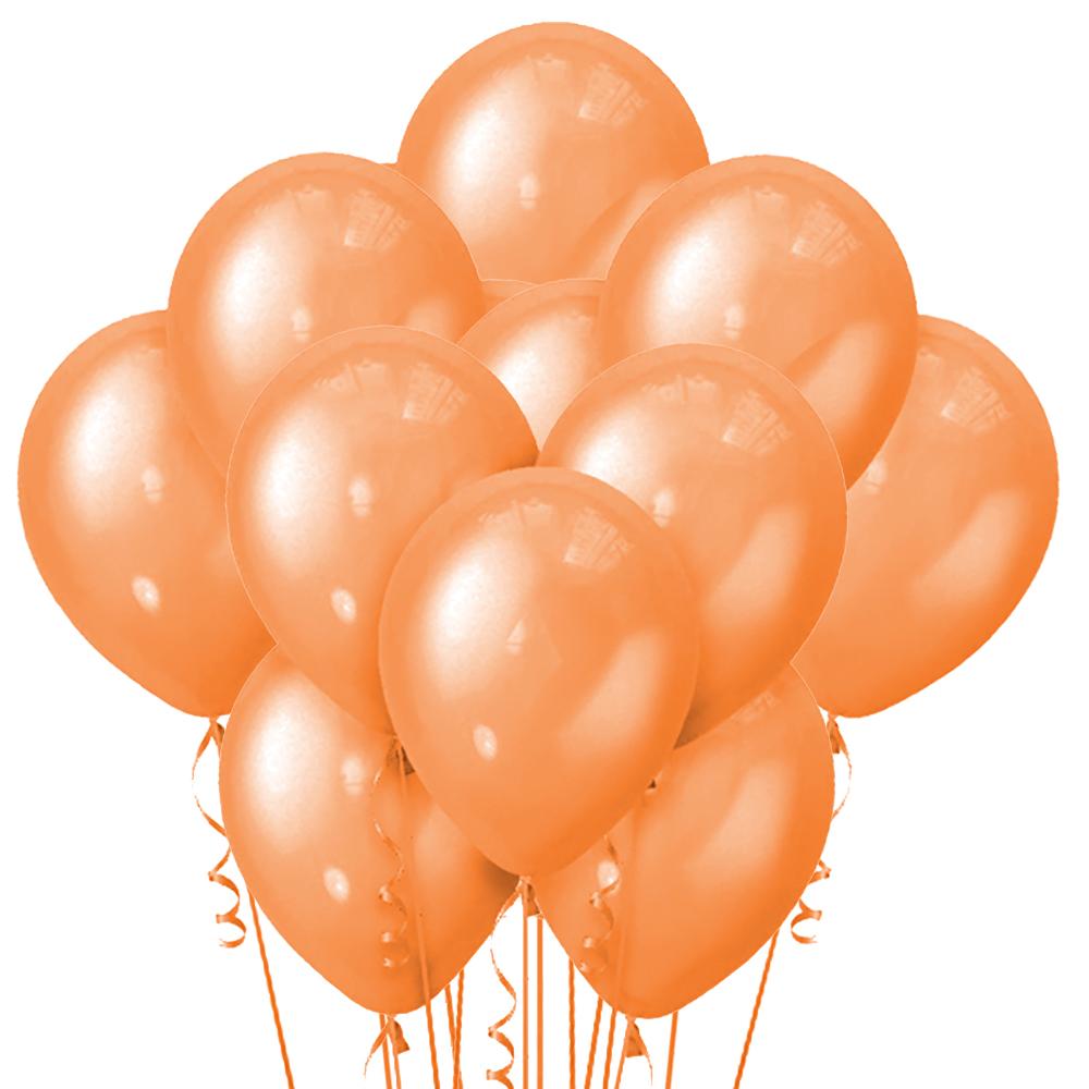 Облако из 15 шаров Металлик Orange 30 см (115)