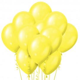 Облако из 15 шаров Металлик Yellow 30 см (118)