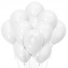 Облако из 15 шаров Матовый Белый 30см (106)