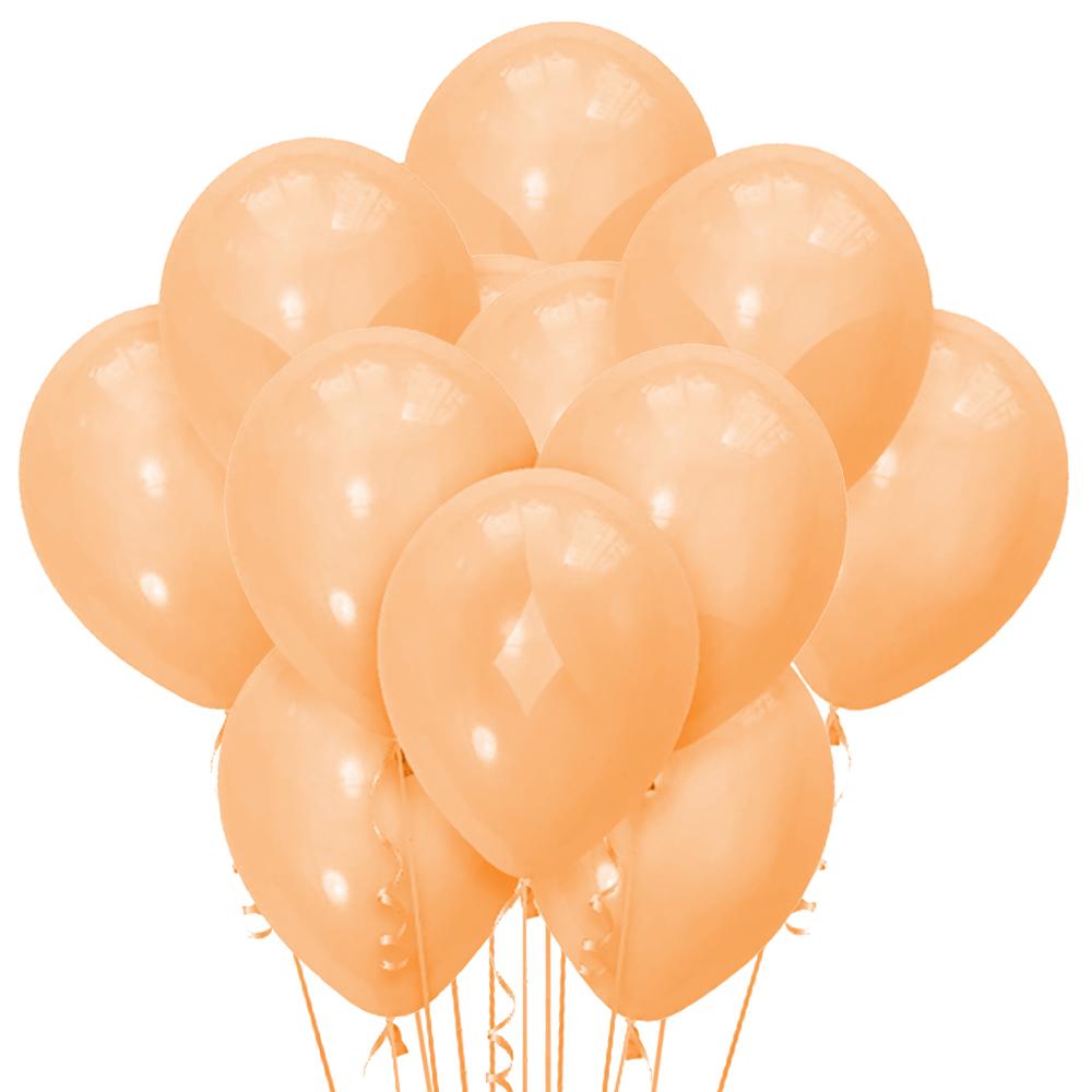 Облако из 15 шаров Пастель матовый Orange 30 см (113)