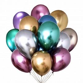 Облако из 15 шаров Хромированных шаров
