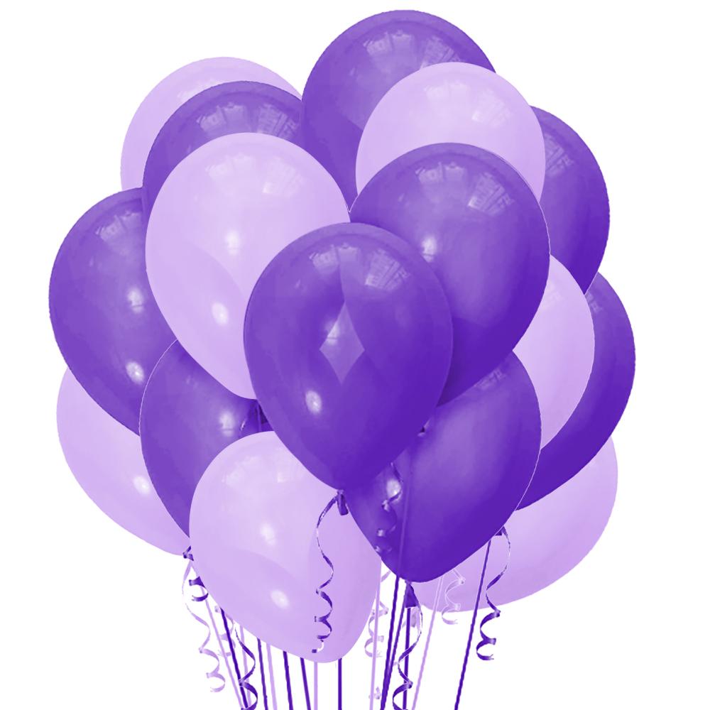Облако из 15 шаров 30 см Декоратор Purple (149) и Матовый Сиреневый (145)