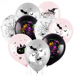 Облако из 9 шаров Гламурный Хэллоуин 30 см