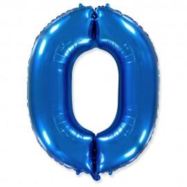 Цифра 0 Синий