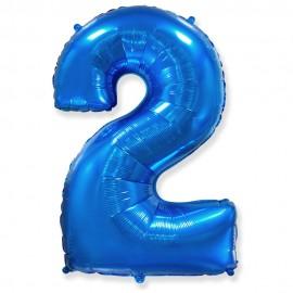 Цифра 2 Синий