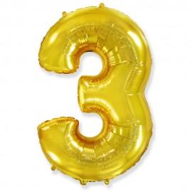 Цифра 3 Золото