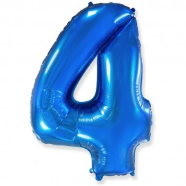 Цифра 4 Синий