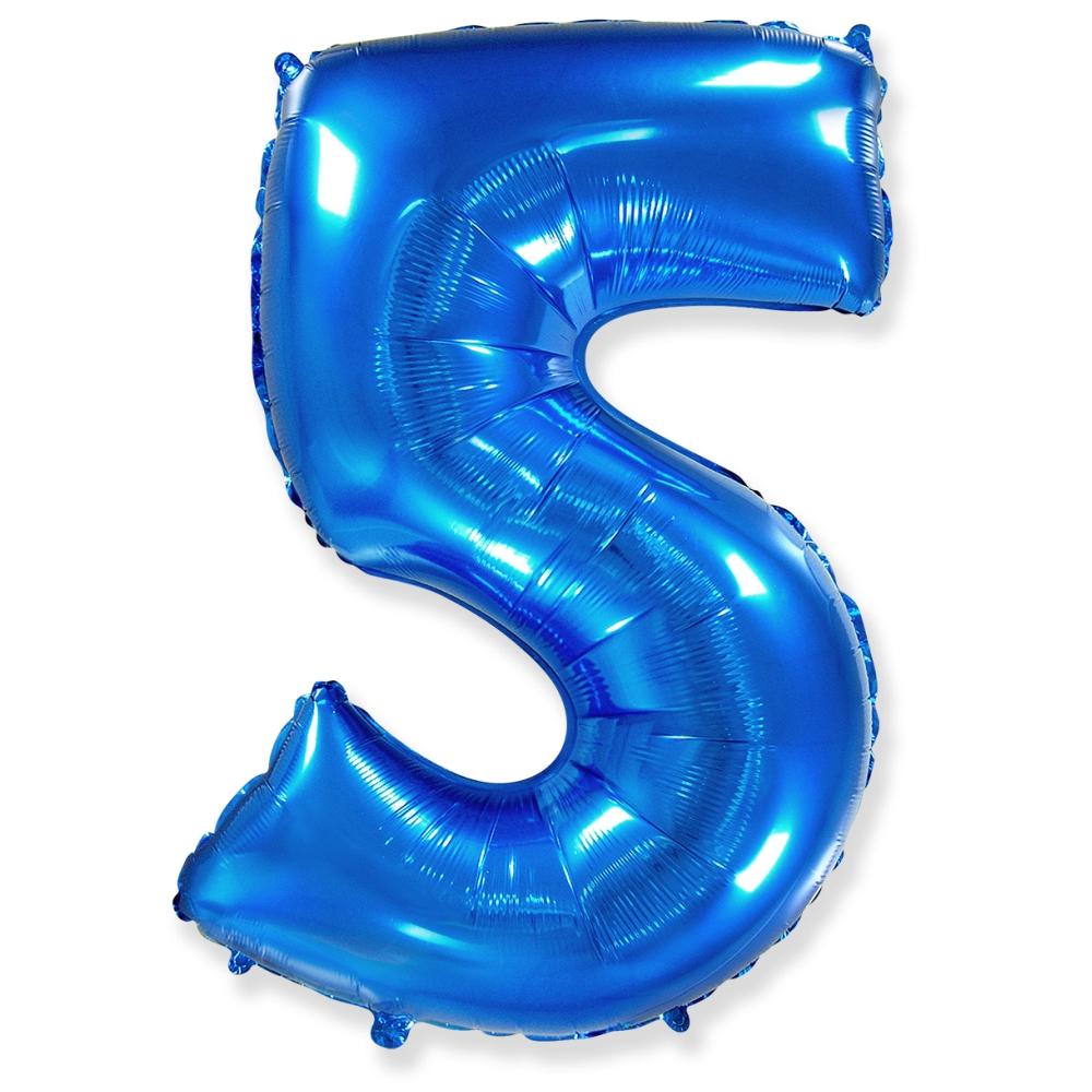 Цифра 5 Синий