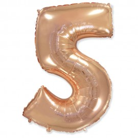 Цифра 5 Розовое золото