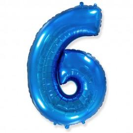 Цифра 6 Синий
