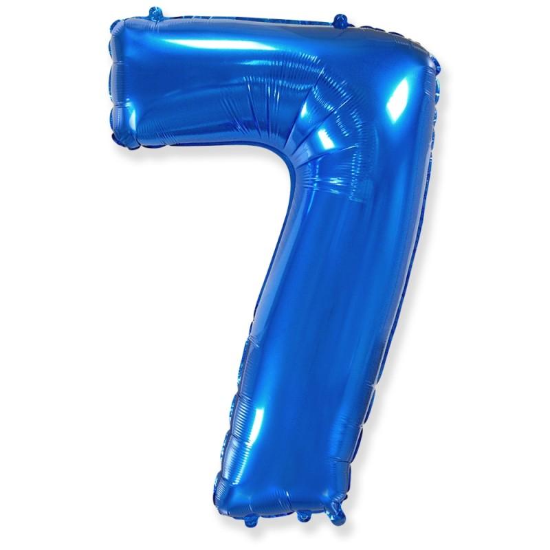 Цифра 7 Синий