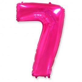 Цифра 7 Фуксия