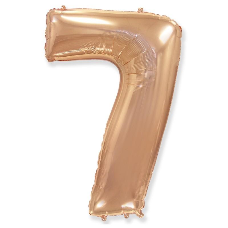 Цифра 7 Розовое золото