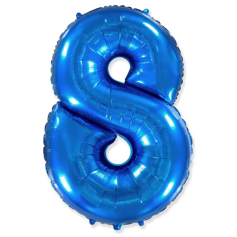 Цифра 8 Синий