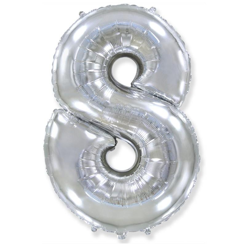 Цифра 8 Серебро