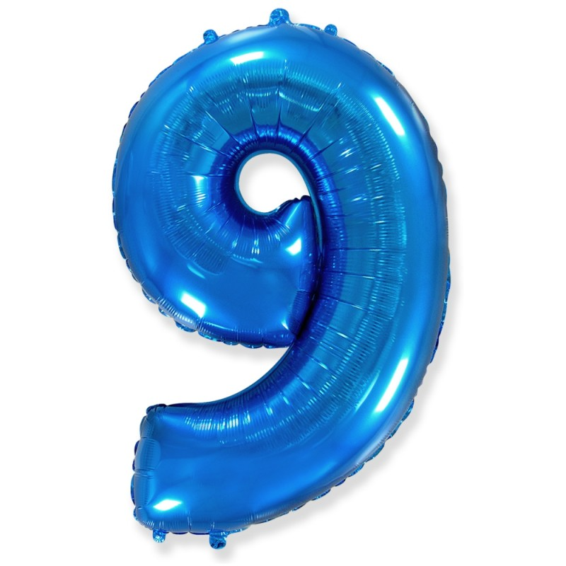 Цифра 9 Синий