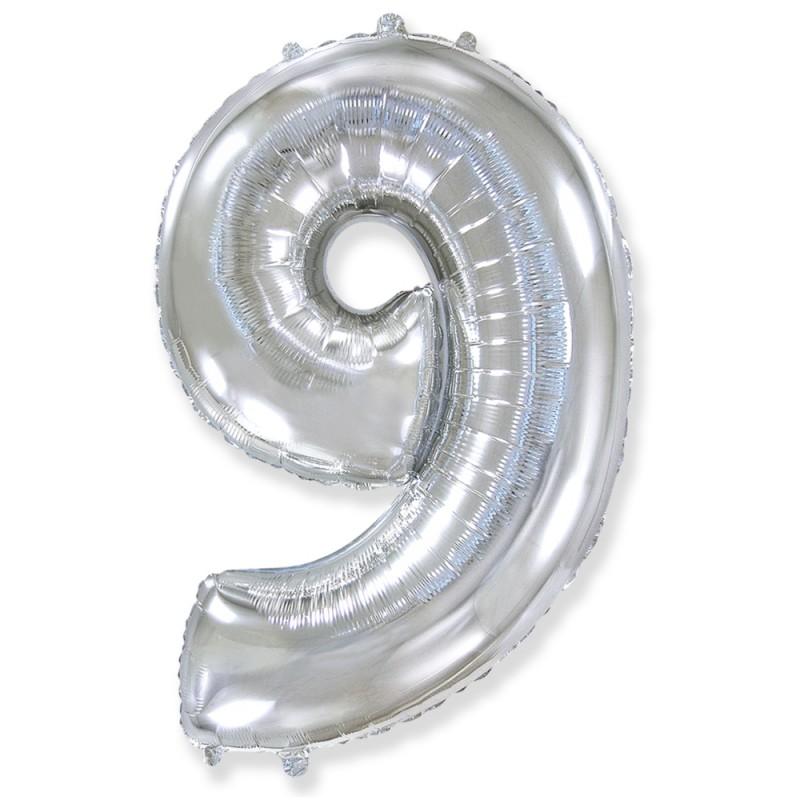 Цифра 9 Серебро