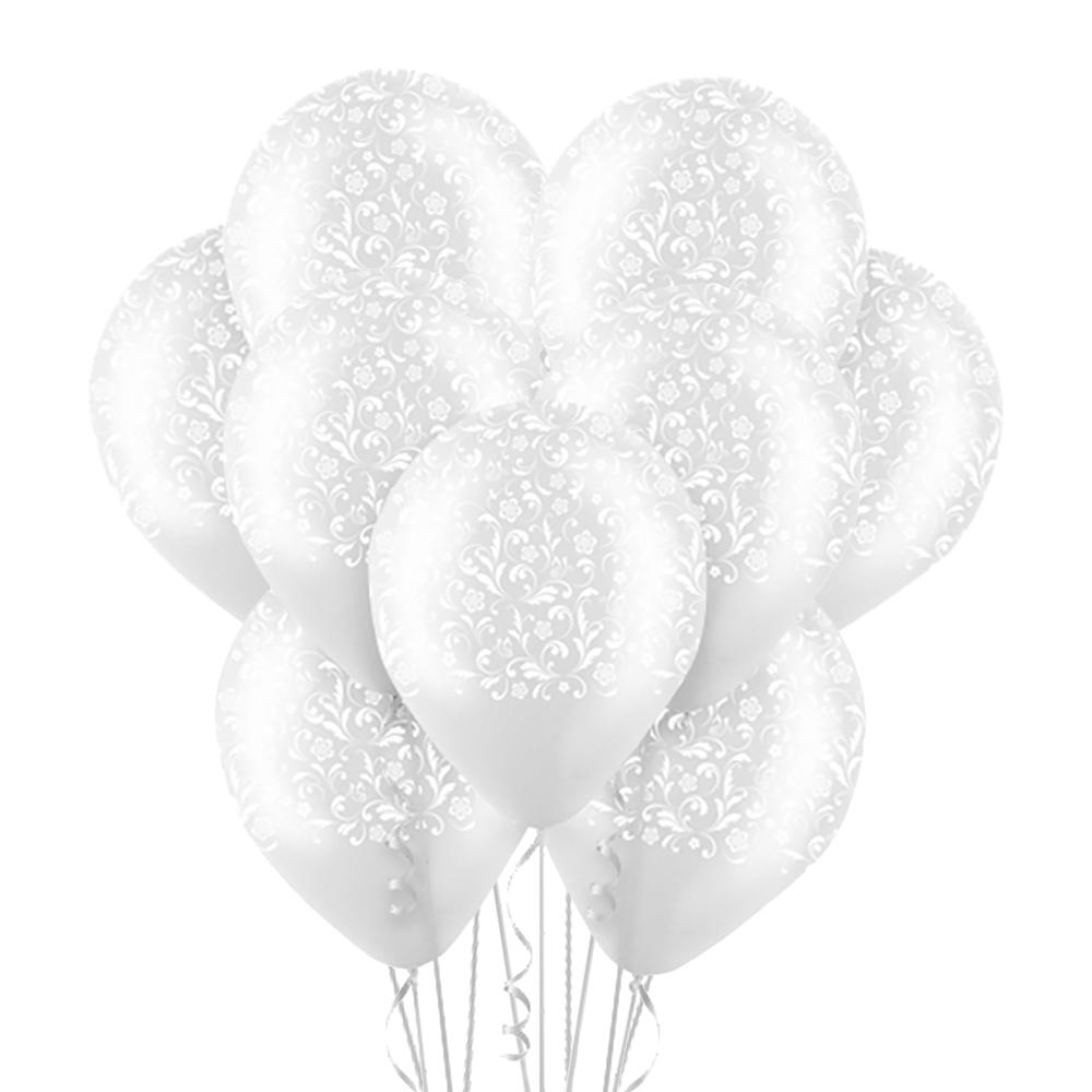 Облако из 15 шаров 30 см Изящный орнамент Прозрачный