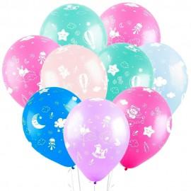 Облако из 15 шаров Новорожденный 30 см