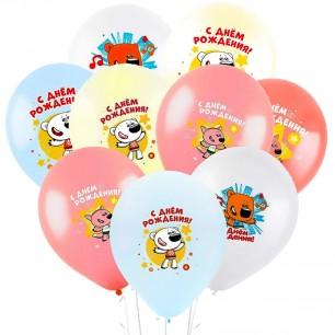 Облако из 15 шаров Ми-Ми-Мишки С днем рождения 30 см