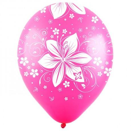 Облако из 9 шаров Цветочная симфония 30 см