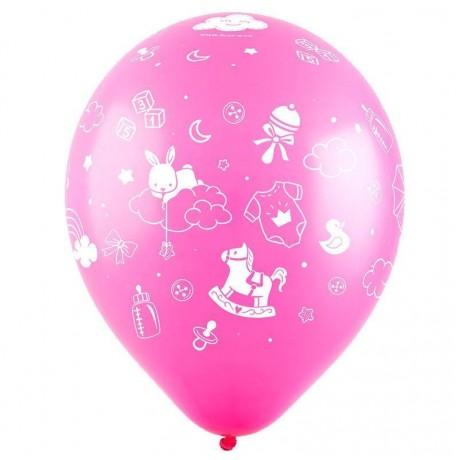 Облако из 9 шаров Новорожденный 30 см