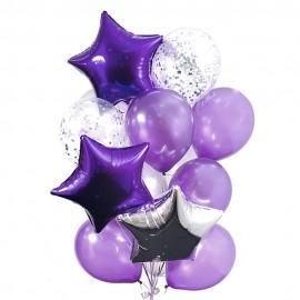 Фиолетовые звезды Фонтан из шаров