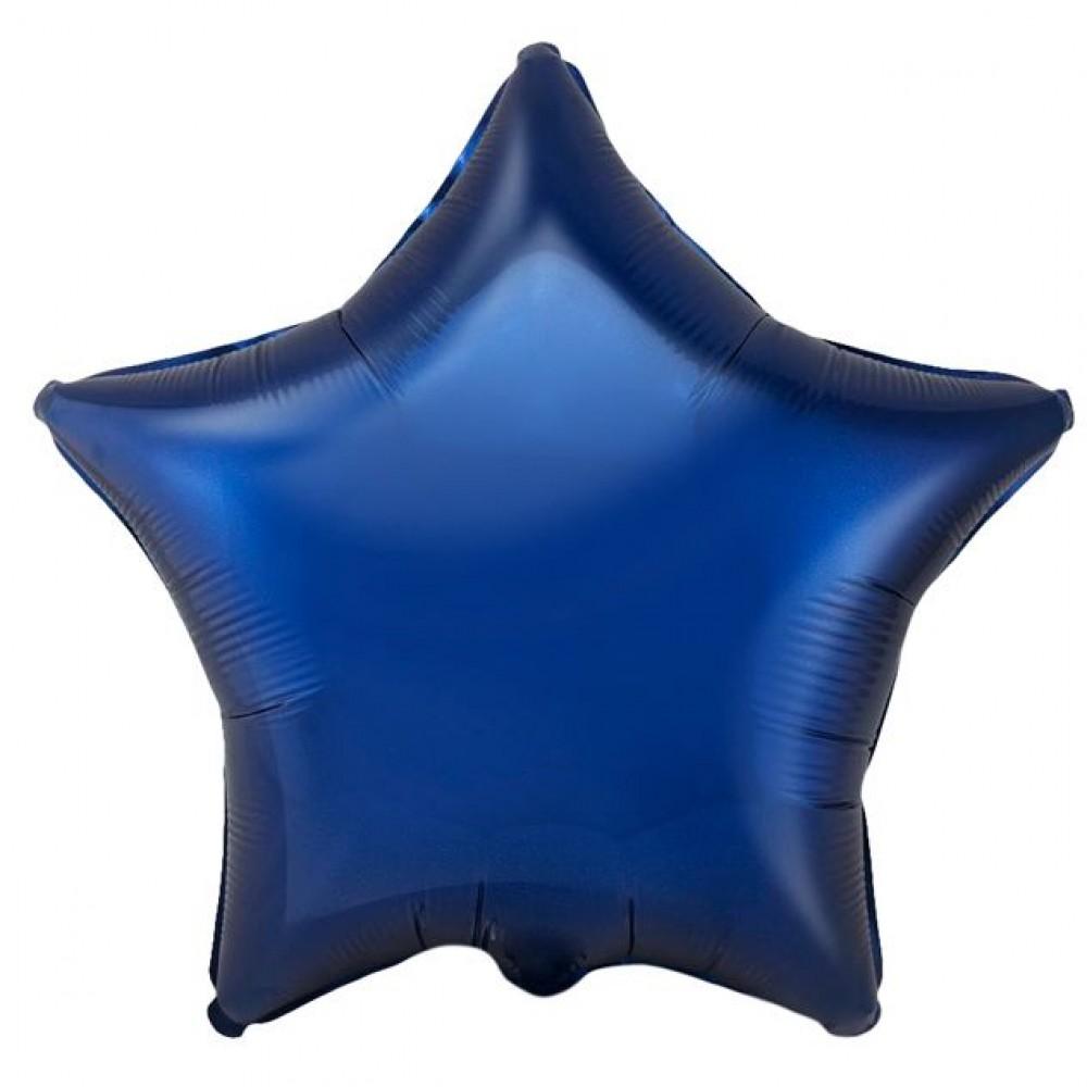 Шар Звезда Темно синий 46 см