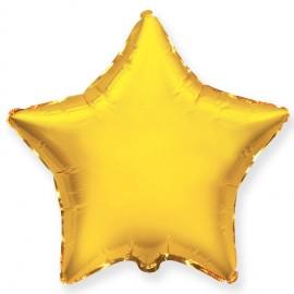 Шар Звезда Золото 46 см