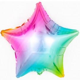 Шар Звезда Радуга нежный градиент 46 см