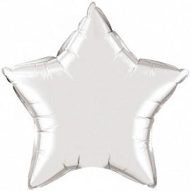 Шар Звезда Серебро 46 см
