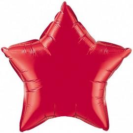 Шар Звезда Красный 46 см