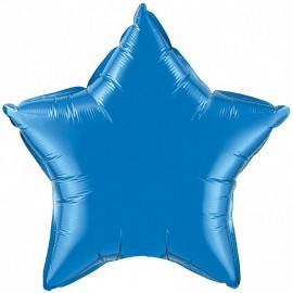 Шар Звезда Синий 46 см