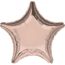 Шар Звезда Роза Голд 46 см