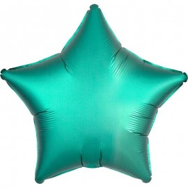 Шар Звезда Бирюза Сатин 46 см