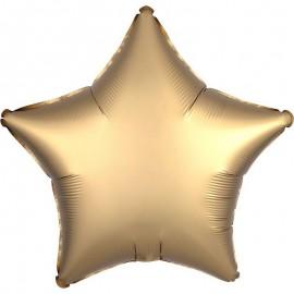 Шар Звезда Золото Сатин 46 см