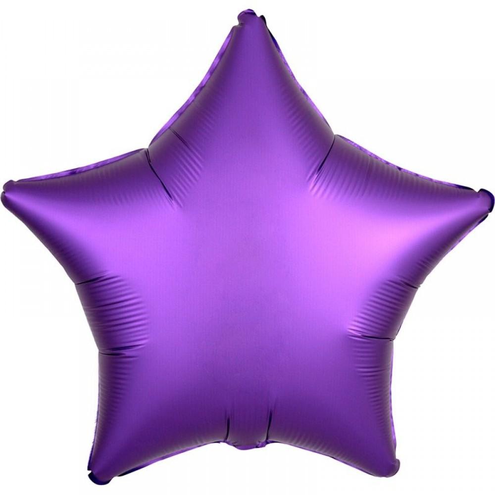 Шар Звезда Фиолетовый Сатин 46 см