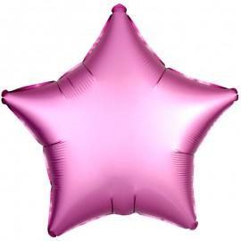 Шар Звезда Розовый Сатин 46 см