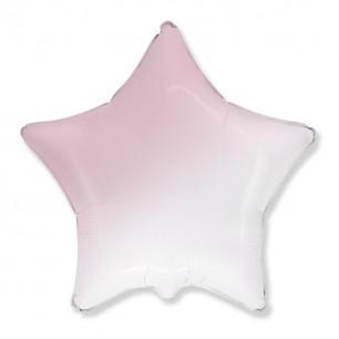 Звезда Бело-розовый градиент 46 см